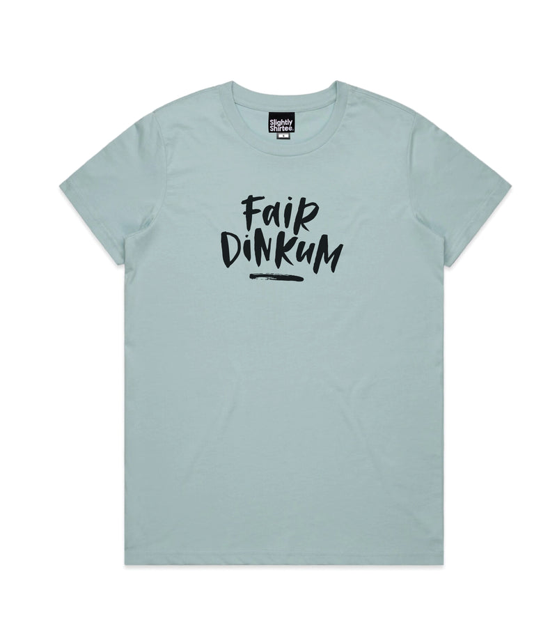 Fair Dinkum tee (Ladies) - Pale Blue