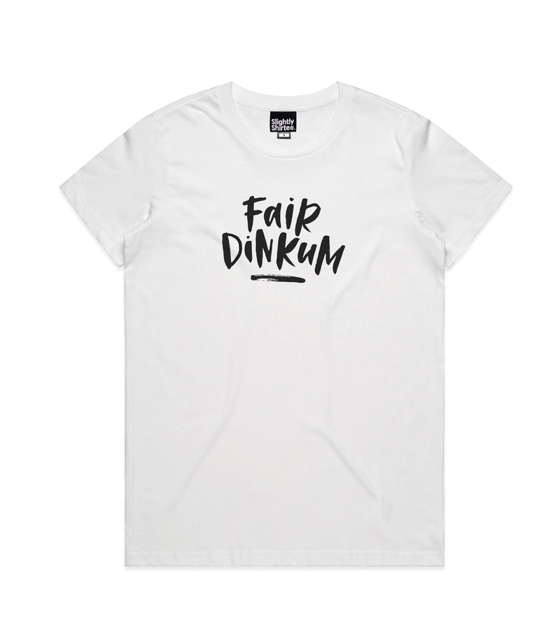 Fair Dinkum tee (Ladies) - White