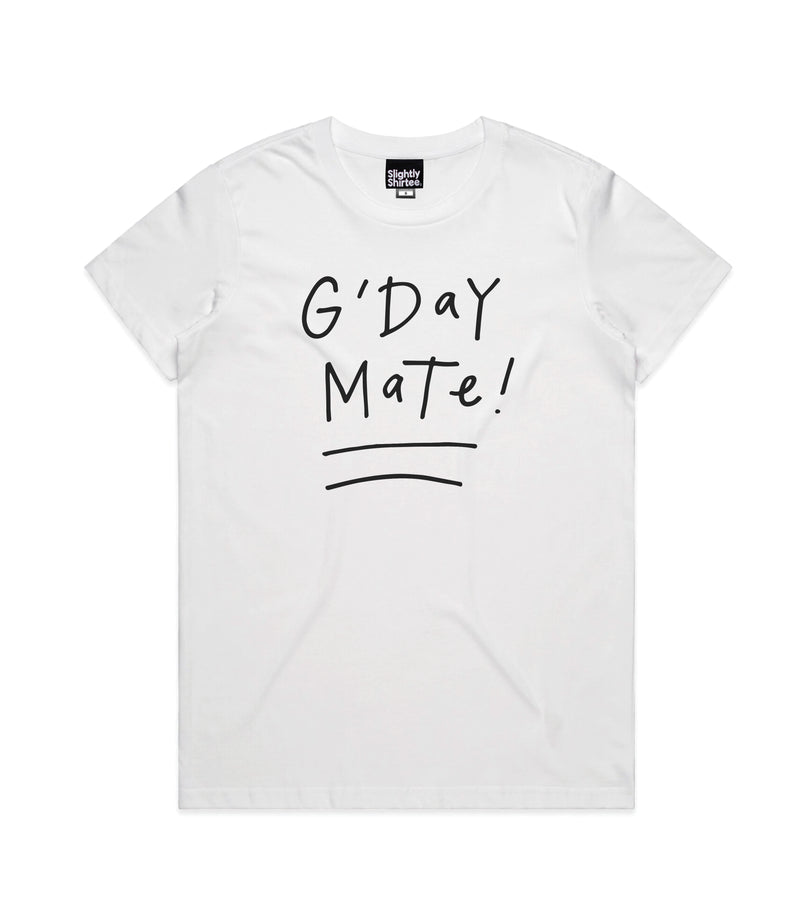 G'day Mate tee (Ladies) - White