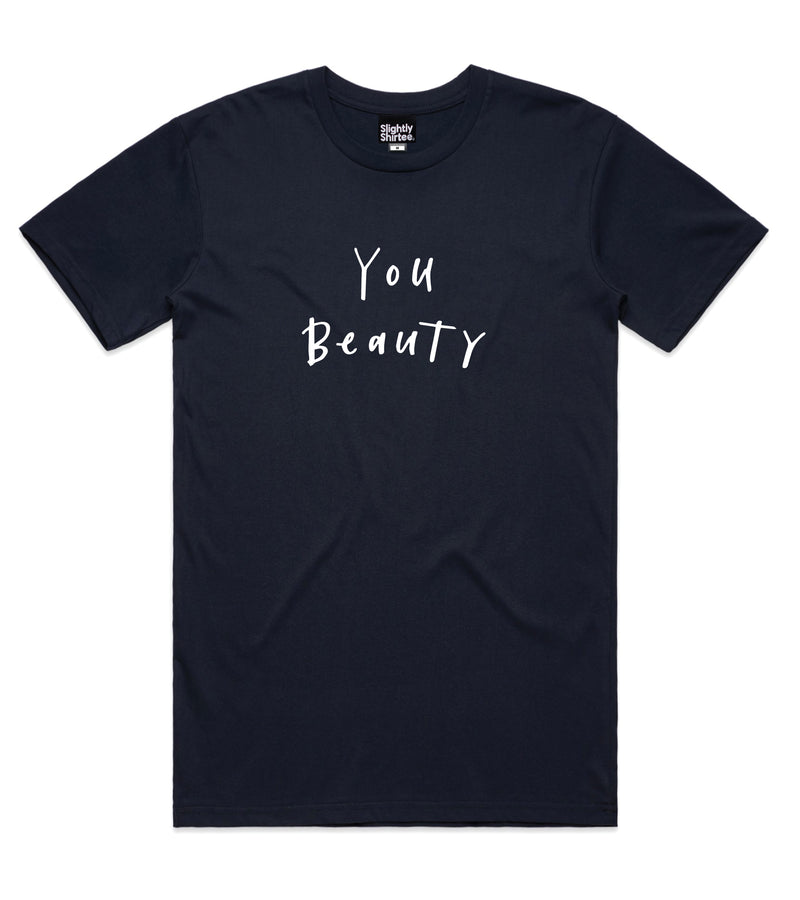 You Beauty tee (Men's) - Indigo