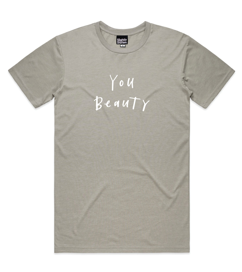 You Beauty tee (Unisex) - Light Grey