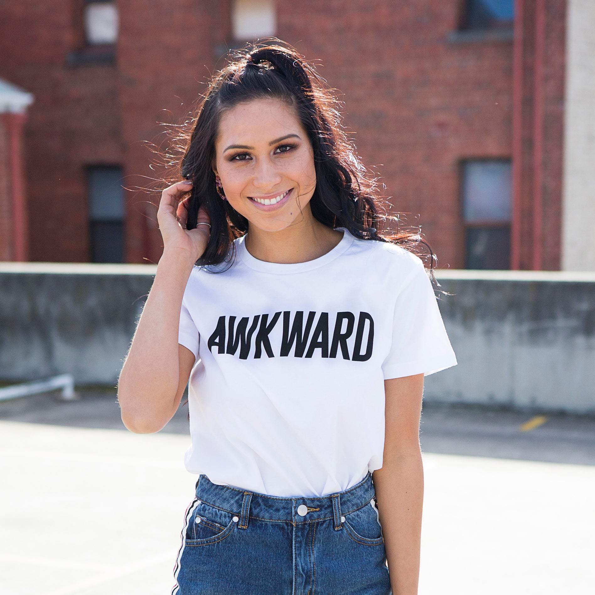 Slightly Shirtee Awkward Slogan Tee