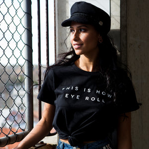 Slightly Shirtee Eye Roll Slogan Tee