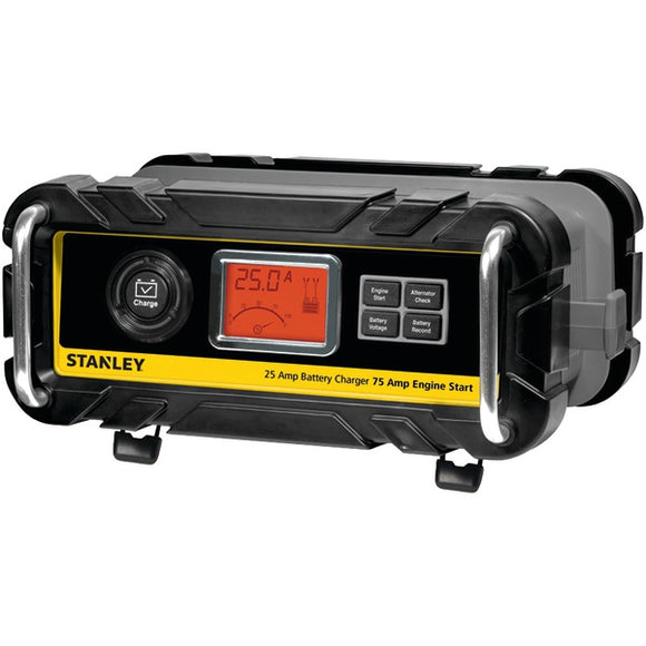 STANLEY BC25BS Battery Charger-Maintainer with Engine Start (25-Amp Charger, 75-Amp Starter)