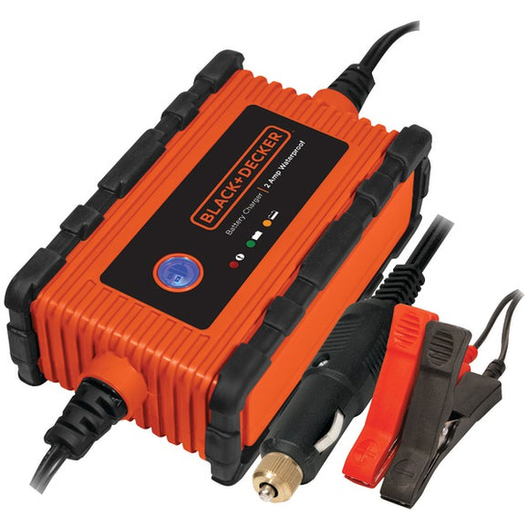 BLACK+DECKER BC2WBD Waterproof Battery Charger-Maintainer (2 Amps)