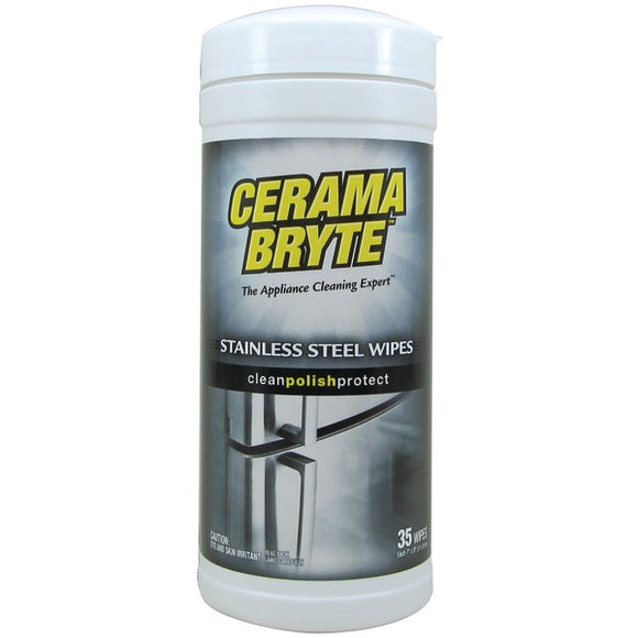 Check it out Appliance Accessories Tools & RTO Cerama Bryte 48635 Stainless Steel Cleaning Wipes, 35-ct Default Title Cerama Bryte at popular-product-trends.myshopify.com