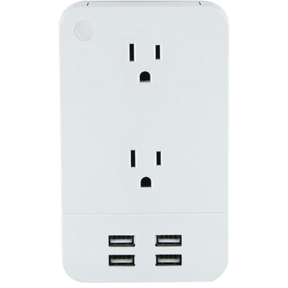 Check it out Home Theater & Custom Install GE 31708 2-Outlet Surge-Protector Wall Tap with 4 USB Ports Default Title Ge at popular-product-trends.myshopify.com