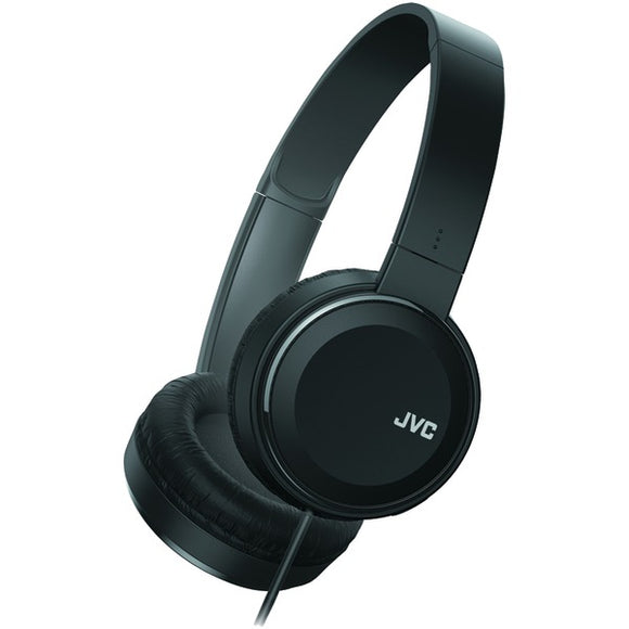 JVC HAS190MB Colorful On-Ear Headphones (Black)