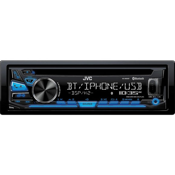 JVC Mobile KD-SR83BT KD-SR83BT Single-DIN In-Dash AM-FM CD Stereo Receiver with Bluetooth