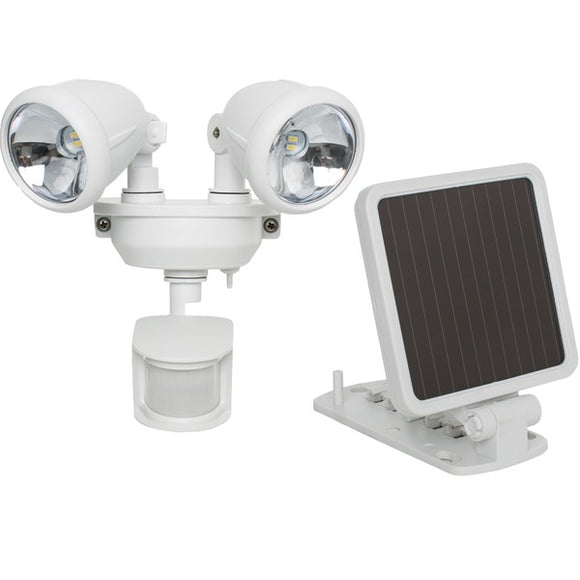 Check it out Outdoor Recreation & Fitness MAXSA Innovations 44217 Solar-Powered Dual Head LED Security Spotlight (White) Default Title Maxsa Innovations at popular-product-trends.myshopify.com
