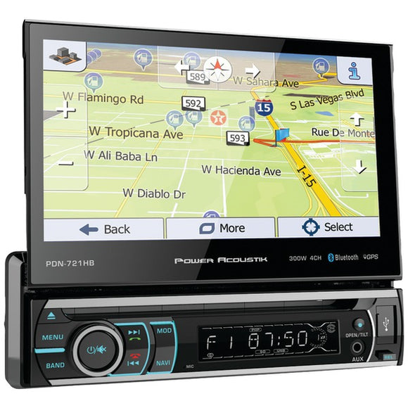 "Check it out Automotive Marine & GPS Power Acoustik 7"" Incite Single-DIN In-Dash GPS Motorized LCD Touchscreen DVD Receiver Default Title Power Acoustik at popular-product-trends.myshopify.com"
