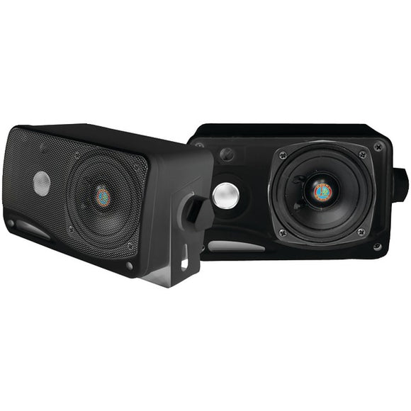 "Check it out Automotive Marine & GPS Pyle PLMR24B Hydra Series 3.5"" 200-Watt 3-Way Weatherproof Mini-Box Speaker System (Black) Default Title Pyle at popular-product-trends.myshopify.com"