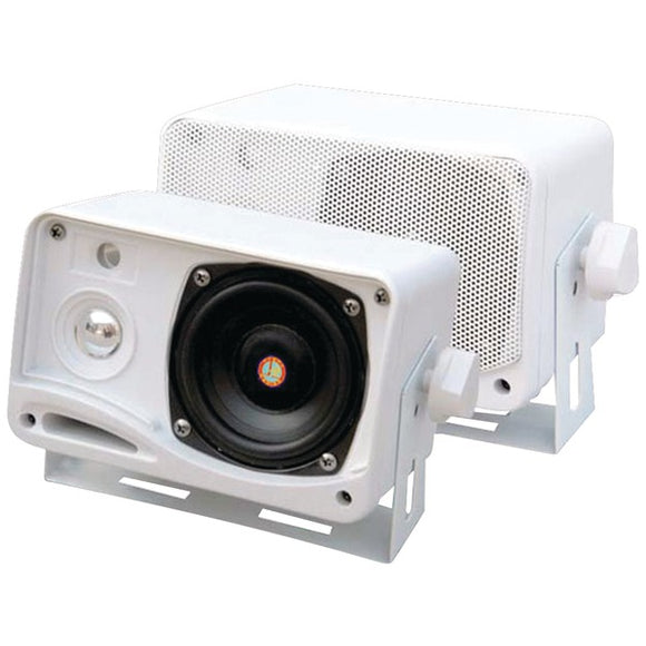 "Check it out Automotive Marine & GPS Pyle PLMR24 Hydra Series 3.5"" 200-Watt 3-Way Weatherproof Mini-Box Speaker System (White) Default Title Pyle at popular-product-trends.myshopify.com"