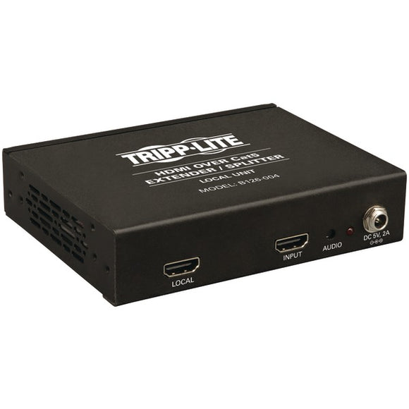 Tripp Lite B126-004 HDMI Over CAT-5-6 Extender-Splitter, 4-Port Box-Style Transmitter for Video & Audio