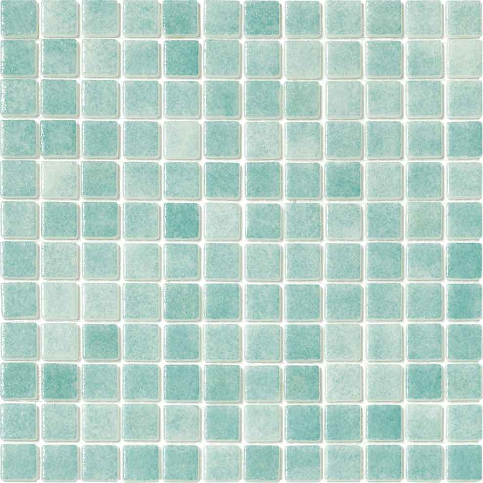 GREEN GLASS TILE MOSAIC
