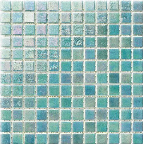TEAL GLASS TILE MOSAIC