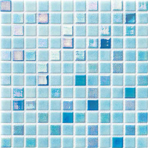 LIGHT BLUE TILES MOSAIC
