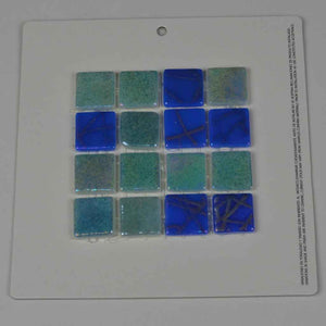 BLUE GREEN TILE MOSAIC