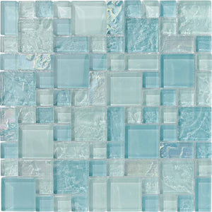 CLEAR GLASS TILES MOSAIC