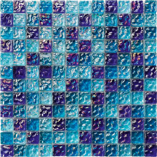 IRIDESCENT POOL TILE MOSAIC