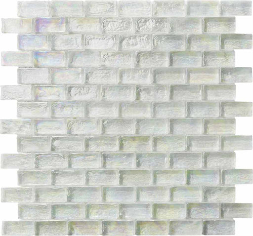WHITE IRIDESCENT TILE