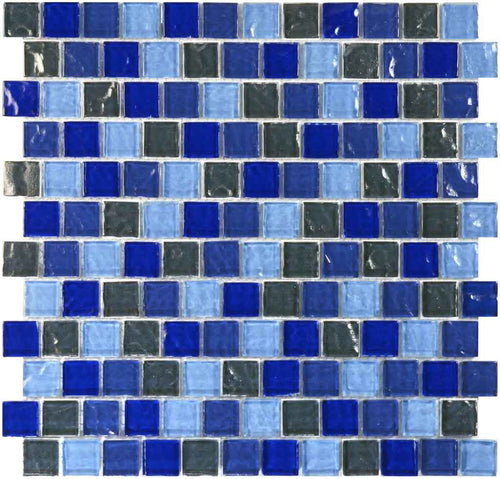BRICK SWIMMING POOL GLASS TILE MOSAIC SAND SLATE BLEND 1X1
