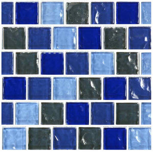 POOL BRICK GLASS TILE MOSAIC
