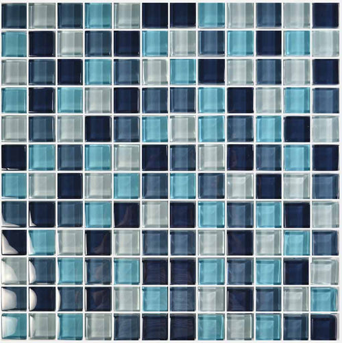 GLASS TILE POOL WATERLINE MOSAIC