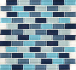 POOL GLASS TILE MOSAIC