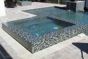 GLASS ACCENT TILE MOSAIC POOL