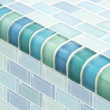 Load image into Gallery viewer, GLASS MOSAIC POOL TRIM TILES