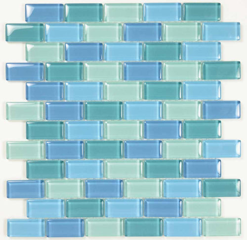 GLASS MOSAIC POOL TILES