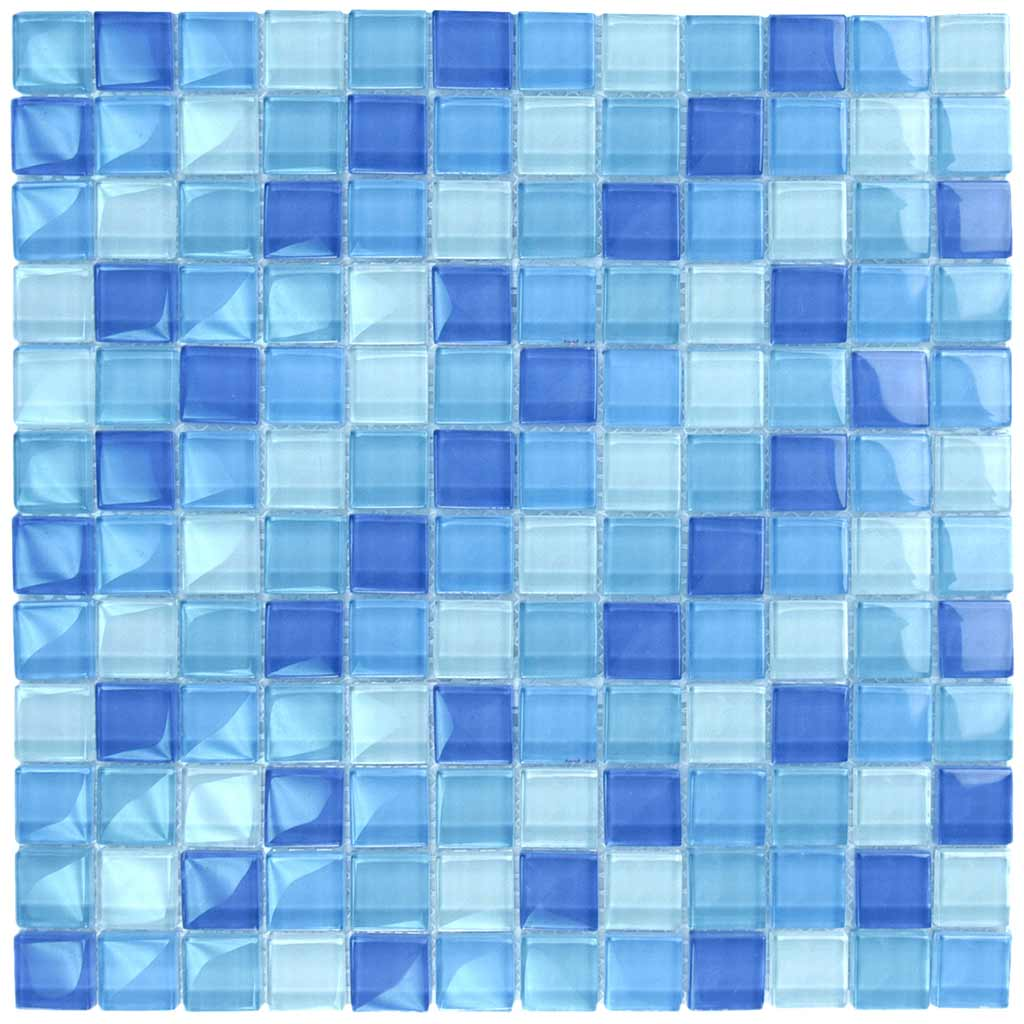 SWIMMING POOL BLUE TILES MOSAIC