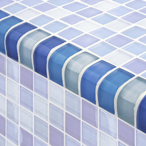 SWIMMING POOL BLUE TILES TRIM