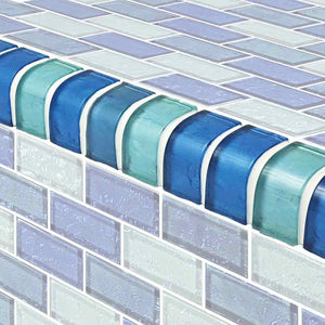 POOL GLASS MOSAIC TRIM