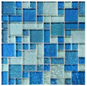 BLUE TILE BACKSPLASH MOSAIC