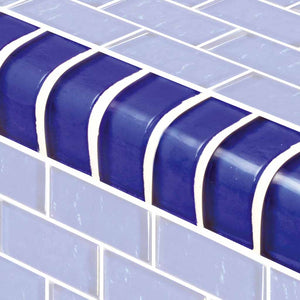 BLUE POOL TILE MOSAIC TRIM