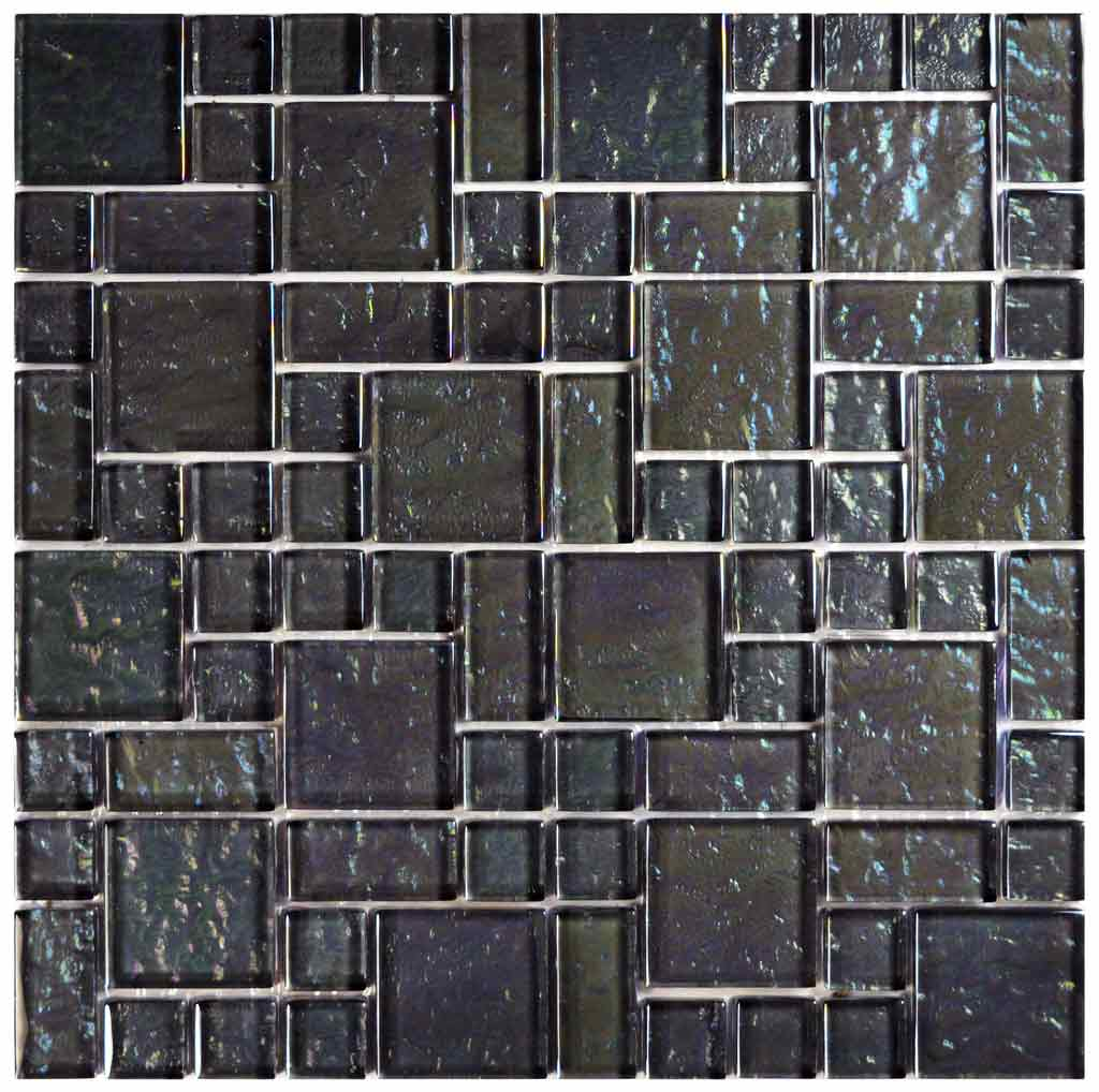 WATERLINE SWIMMING POOL TILE MOSAIC BEACH GRAPHITE MIXED