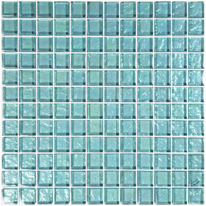 OCEAN GLASS TILE MOSAIC