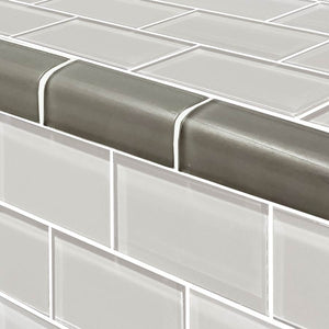 GRAY POOL TILE TRIM