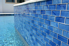 Load image into Gallery viewer, BLUE GLASS SUBWAY TILE
