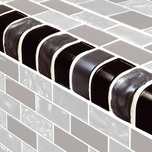 BLACK GLASS POOL TILE
