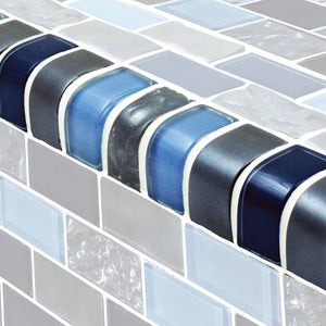 BLUE SWIMMING POOL TILES TRIM