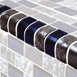 DARK BLUE SWIMMING POOL TILES TRIM