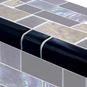 BLACK TILE POOL MOSAIC