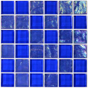 BLUE TILE POOL MOSAIC