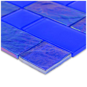 BLUE MOSAIC POOL TILE