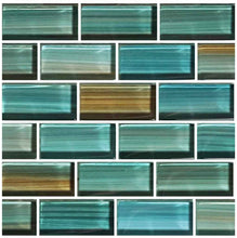Load image into Gallery viewer, AQUA BLUE MOSAIC TILE