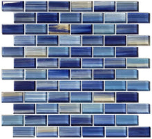 Load image into Gallery viewer, BLUE GLASS MOSAIC TILES