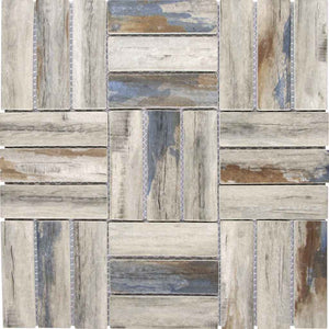 BLUE WOOD LOOK TILE